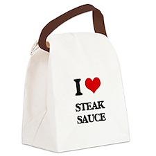 steak sauce Canvas Lunch Bag