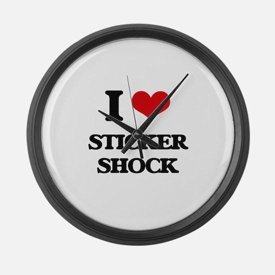 sticker shock Large Wall Clock