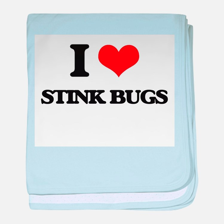 stink bugs baby blanket
