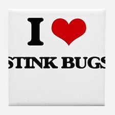 stink bugs Tile Coaster
