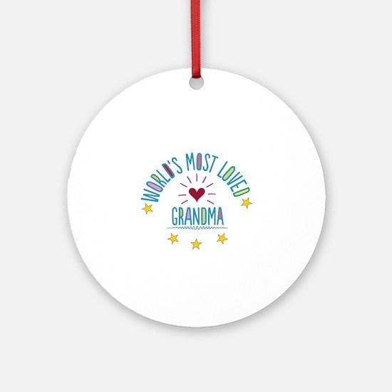 World's Most Loved Grandma Ornament (Round)