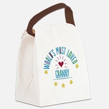 World's Most Loved Granny Canvas Lunch Bag