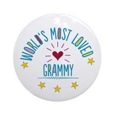 World's Most Loved Grammy Ornament (Round)