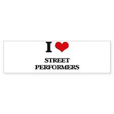 street performers Bumper Bumper Sticker