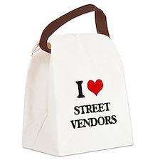 street vendors Canvas Lunch Bag