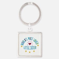 World's Most Loved Little Sister Keychains
