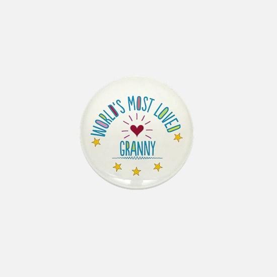 World's Most Loved Granny Mini Button