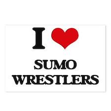 sumo wrestlers Postcards (Package of 8)