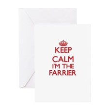 Keep calm I'm the Farrier Greeting Cards