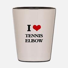 tennis elbow Shot Glass
