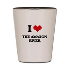 the amazon river Shot Glass