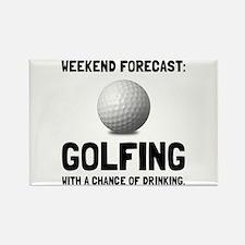 Unique Humorous golf Rectangle Magnet