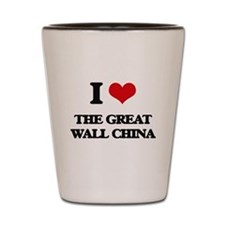 the great wall china Shot Glass