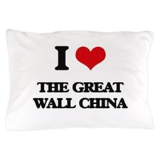 the great wall china Pillow Case