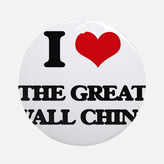 the great wall china Ornament (Round)