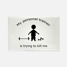 Cute Personal trainer diet Rectangle Magnet