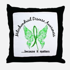 Mitochondrial Disease Butterfly 6.1 Throw Pillow