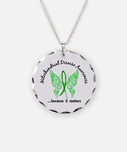 Mitochondrial Disease Butter Necklace Circle Charm