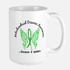 Mitochondrial Disease Butterfly 6.1 Large Mug