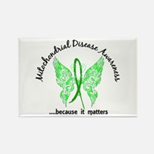Mitochondrial Disease Butterfly 6 Rectangle Magnet