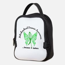 Mitochondrial Disease Butterfly Neoprene Lunch Bag