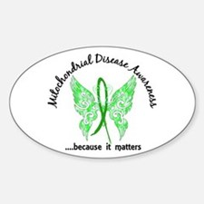 Mitochondrial Disease Butterf Sticker (Oval 10 pk)