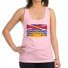British Columbia flag Racerback Tank Top