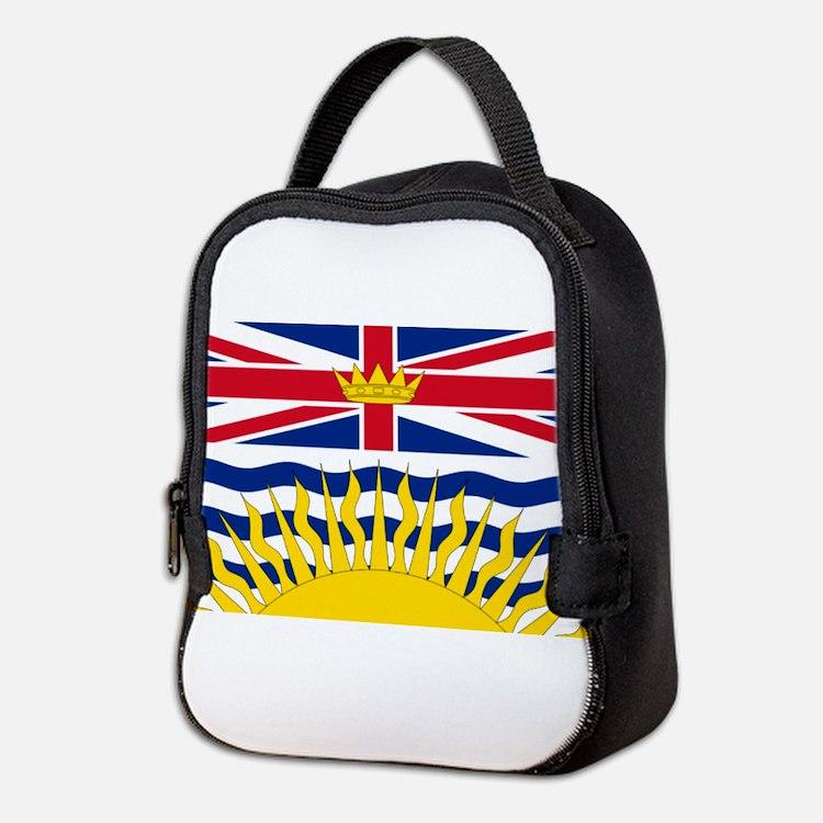 British Columbia flag Neoprene Lunch Bag