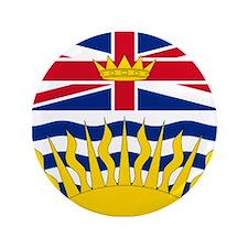 "British Columbia flag 3.5"" Button"
