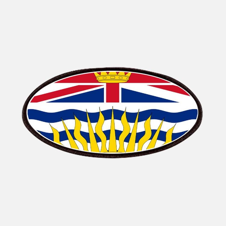 British columbia flag patches iron on
