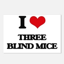 three blind mice Postcards (Package of 8)