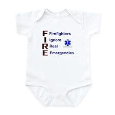Firefighters Ignore Emergencies Infant Bodysuit
