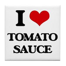 tomato sauce Tile Coaster