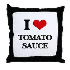 tomato sauce Throw Pillow