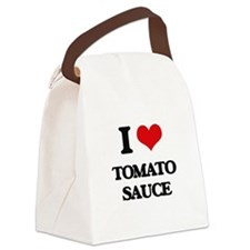 tomato sauce Canvas Lunch Bag