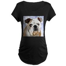English Bulldog Maternity T-Shirt