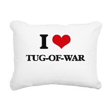 tug-of-war Rectangular Canvas Pillow