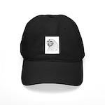 Chantecler Rooster Head Black Cap