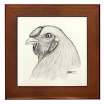 Chantecler Rooster Head Framed Tile
