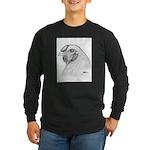 Chantecler Rooster Head Long Sleeve Dark T-Shirt