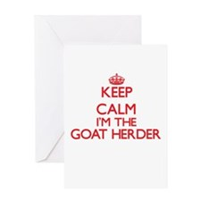 Keep calm I'm the Goat Herder Greeting Cards
