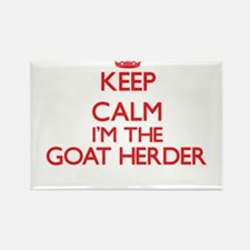 Keep calm I'm the Goat Herder Magnets