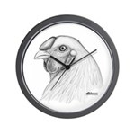 Chantecler Rooster Head Wall Clock