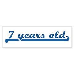7 years old (sport-blue) Bumper Bumper Sticker