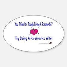 Paramedic Wife Oval Decal