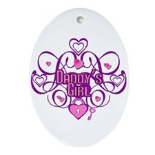 Daddy's Girl Pink/Fuschia Oval Ornament