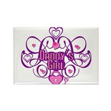 Daddy's Girl Pink/Fuschia Rectangle Magnet (10 pac