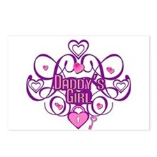 Daddy's Girl Pink/Fuschia Postcards (Package of 8)
