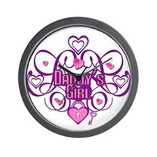 Daddy's Girl Pink/Fuschia Wall Clock