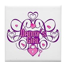 Daddy's Girl Pink/Fuschia Tile Coaster
